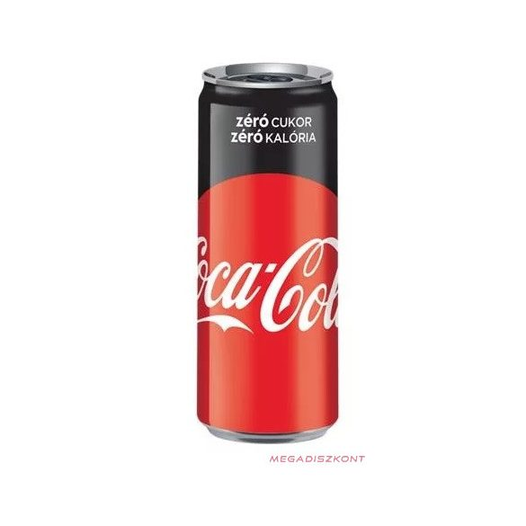 COCA Cola zero Sleek can 0,33l