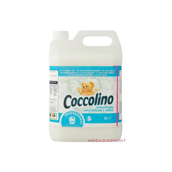Coccolino Pure Sensitive öblítőkoncentrátum 5l